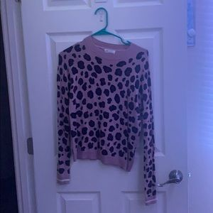 Purple cheetah print sweater
